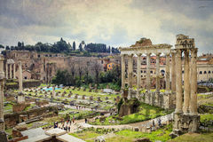 Senatus Populusque Romanus. A full view of Ancient Rome stock image