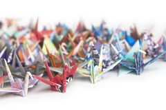 Senbazuru (A Thousand Cranes) Stock Photos