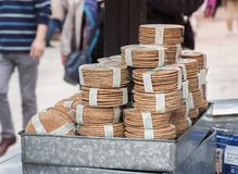 ` Senbei ` шутих Apanese продало для подавая оленей Стоковое Фото