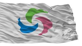 Senboku miasta flaga, Japonia, Akita prefektura, Odizolowywająca Na Białym tle ilustracji