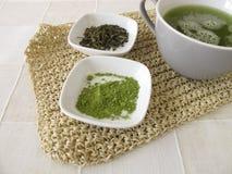 Sencha green tea with matcha Royalty Free Stock Image