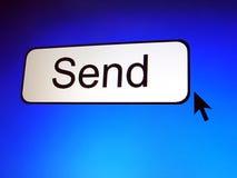 Send button. Screen Shot, pixelation effect Stock Image