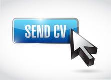 Send cv button and cursor illustration design Stock Photography