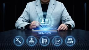 Send Cv Curriculum vitae Job Search Resume Business Internet Concept.  stock image