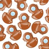 Send diver pattern. On white background is insulated Royalty Free Stock Images