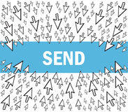 Send e-mail Royalty Free Stock Image