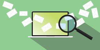Send E-Mail empfangend lizenzfreie abbildung