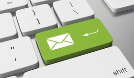 Send email. Concept on keyboard button vector illustration