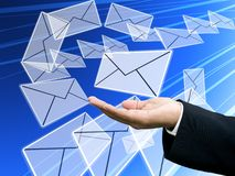 Send email to us. Internet technology concept Royalty Free Stock Images