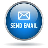 Send email web button. Icon of vector illustration on isolated white background with shadow Stock Photo