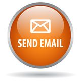 Send email web button. Icon of vector illustration on isolated white background with shadow Stock Photos