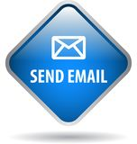 Send email web button. Icon of vector illustration on isolated white background with shadow Royalty Free Stock Image