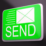 Send Envelope Shows Electronic Message Worldwide Communication Stock Images