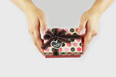 Send a gift of hands Royalty Free Stock Image