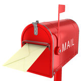 Send letter in mailbox Stock Photos