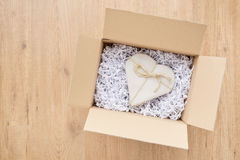 Send Love by Mail - Heart in a Parcel Stock Photography