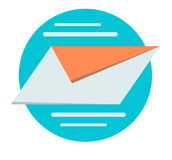 Send mail Business concept vector design. Stock Photos