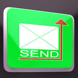 Send Mail Button Showing Mailing Post Stock Images