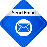 Send mail icon web button. Of vector illustration on isolated white background royalty free illustration