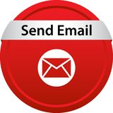 Send mail icon web button. Of vector illustration on isolated white background stock illustration