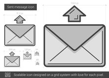Send message line icon. Royalty Free Stock Image