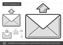 Send message line icon. Stock Images