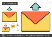 Send message line icon. Royalty Free Stock Photo