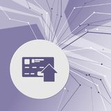 Send money with credit card icon on purple abstract modern background. The lines in all directions. With room for your advertising. Illustration vector illustration