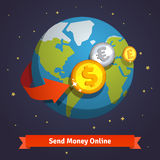 Send money online concept Stock Images