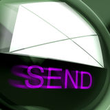 Send Postage Means Email Or Post To Recipient Stock Images