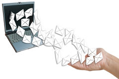 Send or receive e-mail. Royalty Free Stock Photography