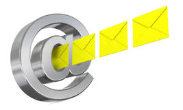Send and receive emails Stock Photography