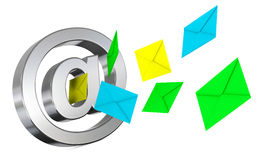Send and receive emails Royalty Free Stock Images