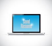 Send resume computer message illustration Stock Photos