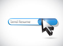 Send resume message illustration design Stock Photography