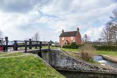 SEND, SURREY/UK - MARCH 25 : Papercourt Lock On The River Wey Na Royalty Free Stock Images