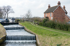 SEND, SURREY/UK - MARCH 25 : Papercourt Lock on the River Wey Na. Vigations Canal near Send in Surrey on March 25, 2015 Stock Photo