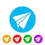 Send symbol, paper airplane icon - for stock. Send symbol, paper airplane icon – stock vector stock illustration