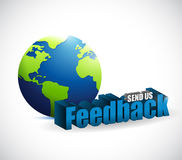 send us feedback around the globe sign Royalty Free Stock Images
