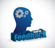 Send us feedback brain sign illustration design Stock Photography