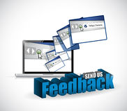 Send us feedback browsers sign illustration design Royalty Free Stock Images
