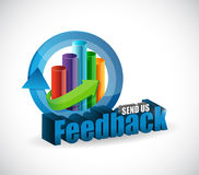 Send us feedback business graph sign illustration Stock Photography