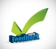 Send us feedback checkmark sign illustration Stock Photo