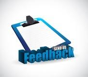 Send us feedback clipboard sign Royalty Free Stock Image