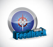 Send us feedback compass sign illustration design Stock Images