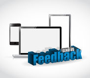 Send us feedback electronics sign illustration Stock Image