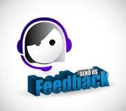 Send us feedback female sign illustration design Royalty Free Stock Photography