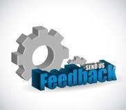 Send us feedback industrial sign illustration Royalty Free Stock Photo