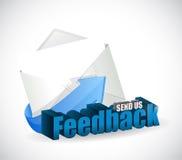 Send us feedback mail sign illustration design Stock Photos