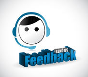 Send us feedback male sign illustration design Royalty Free Stock Photography